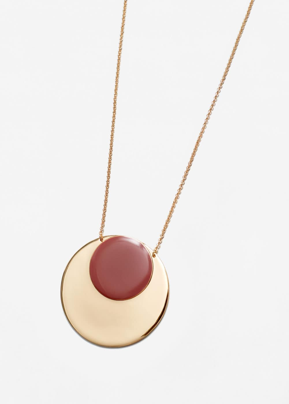 Circular pendant necklace | MANGO