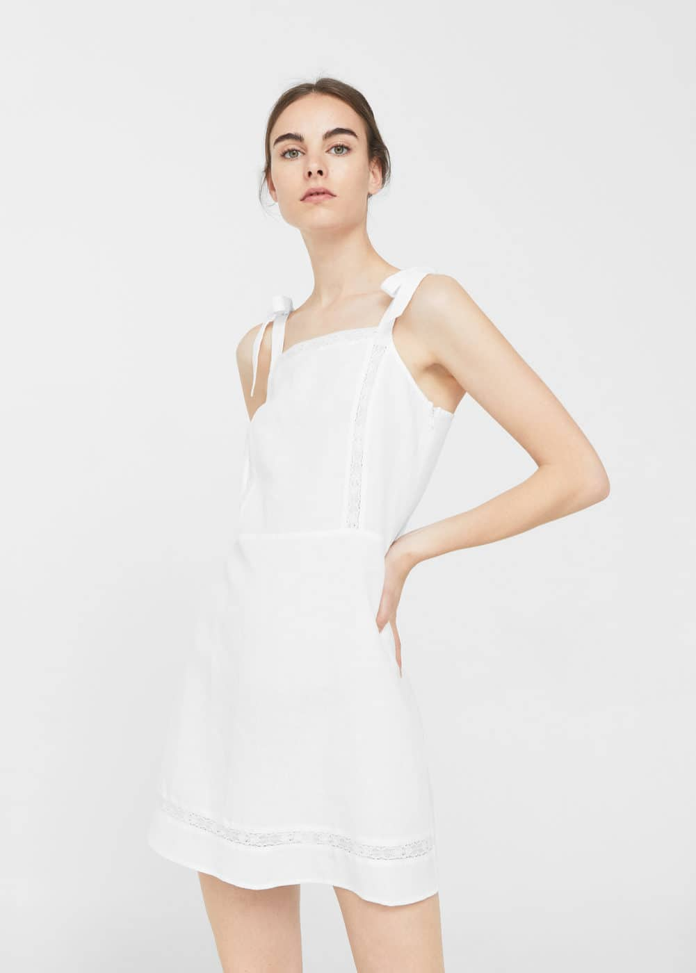 Bow linen dress | MANGO