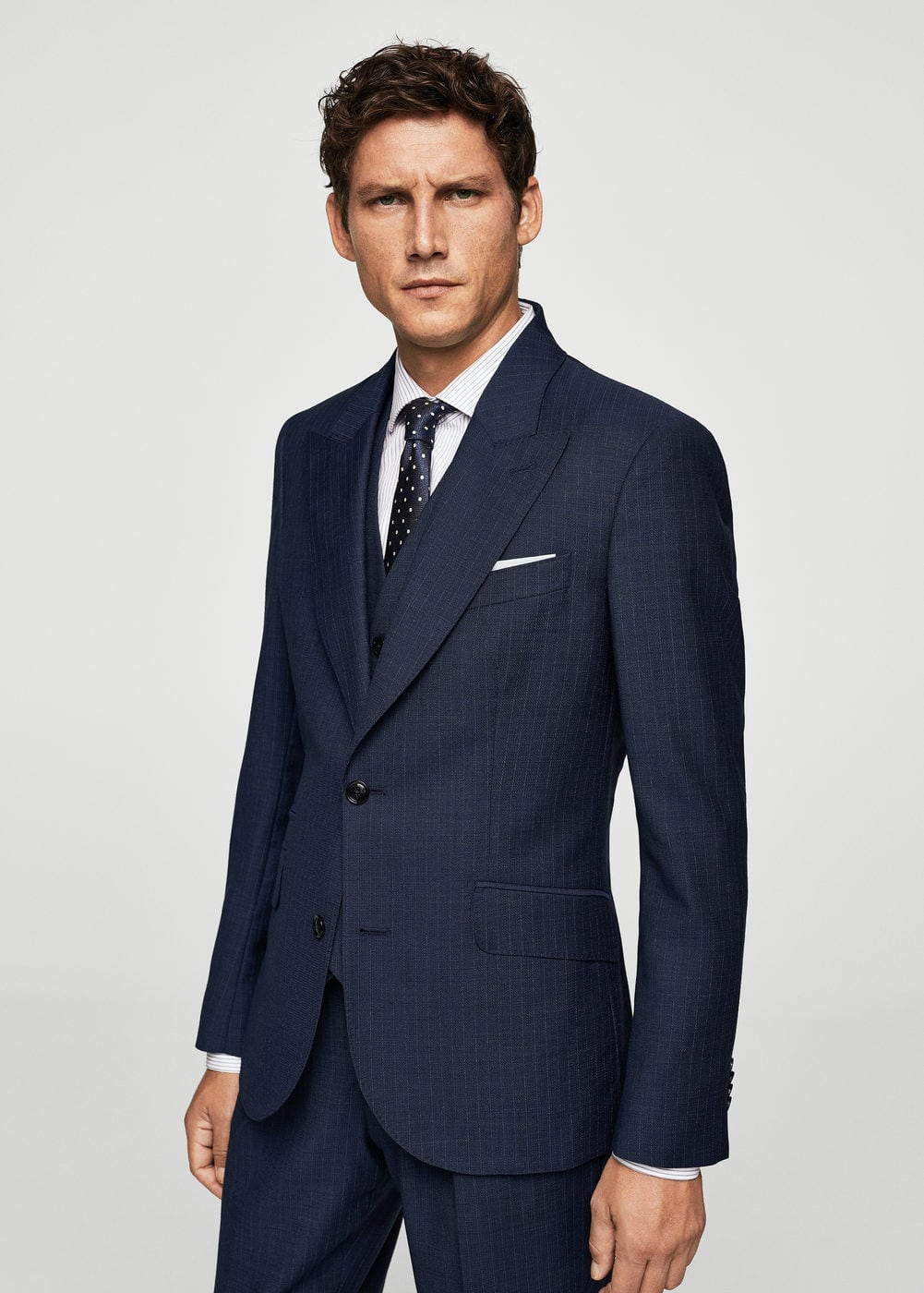 Slim-fit cool wool suit blazer | MANGO