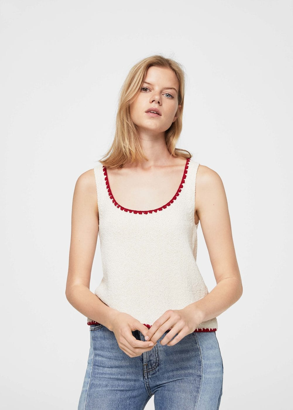Contrast trim top | MANGO