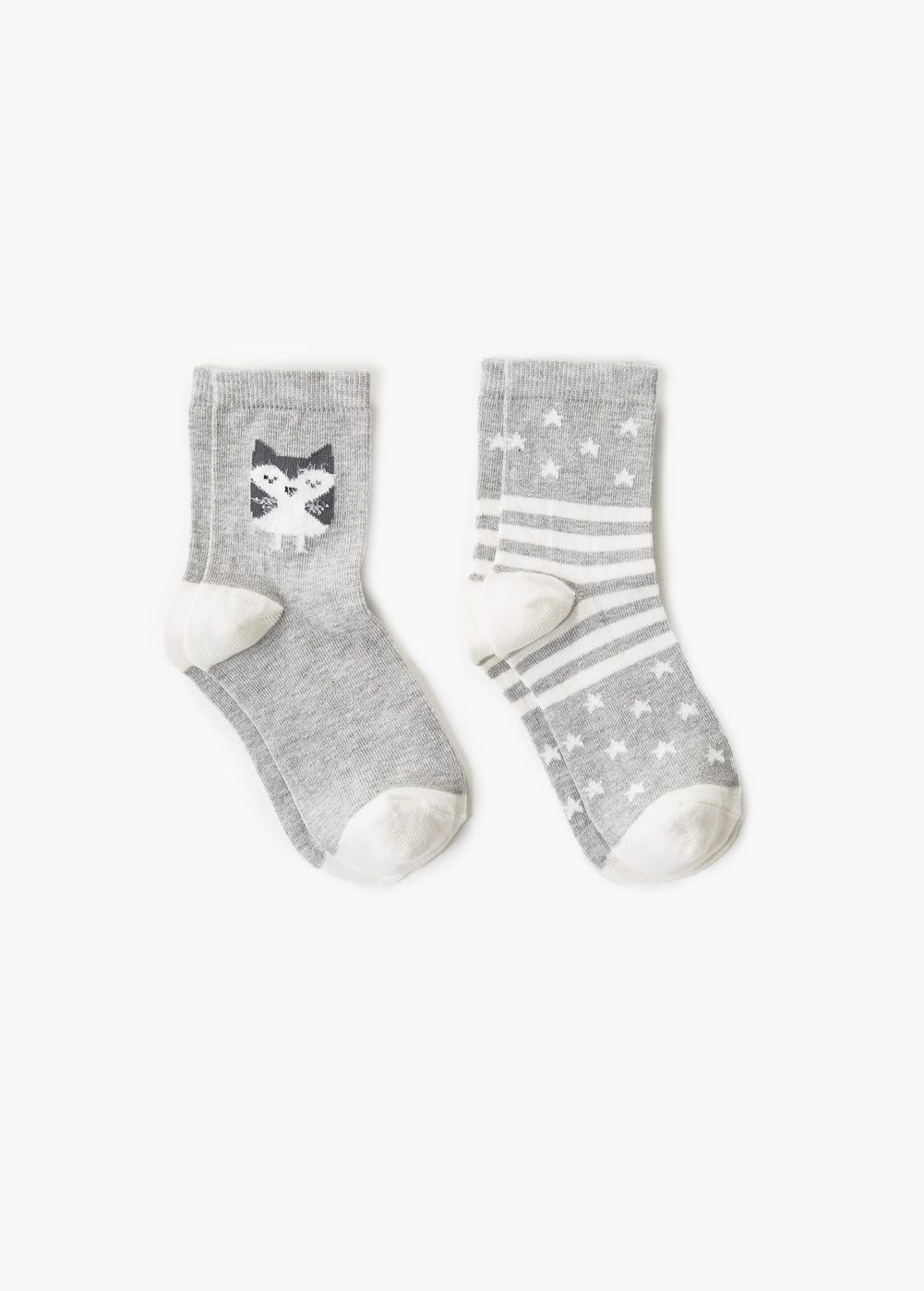 2 pack mixed socks | MANGO