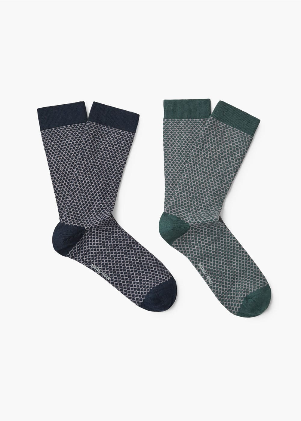 2 pack printed socks | MANGO MAN