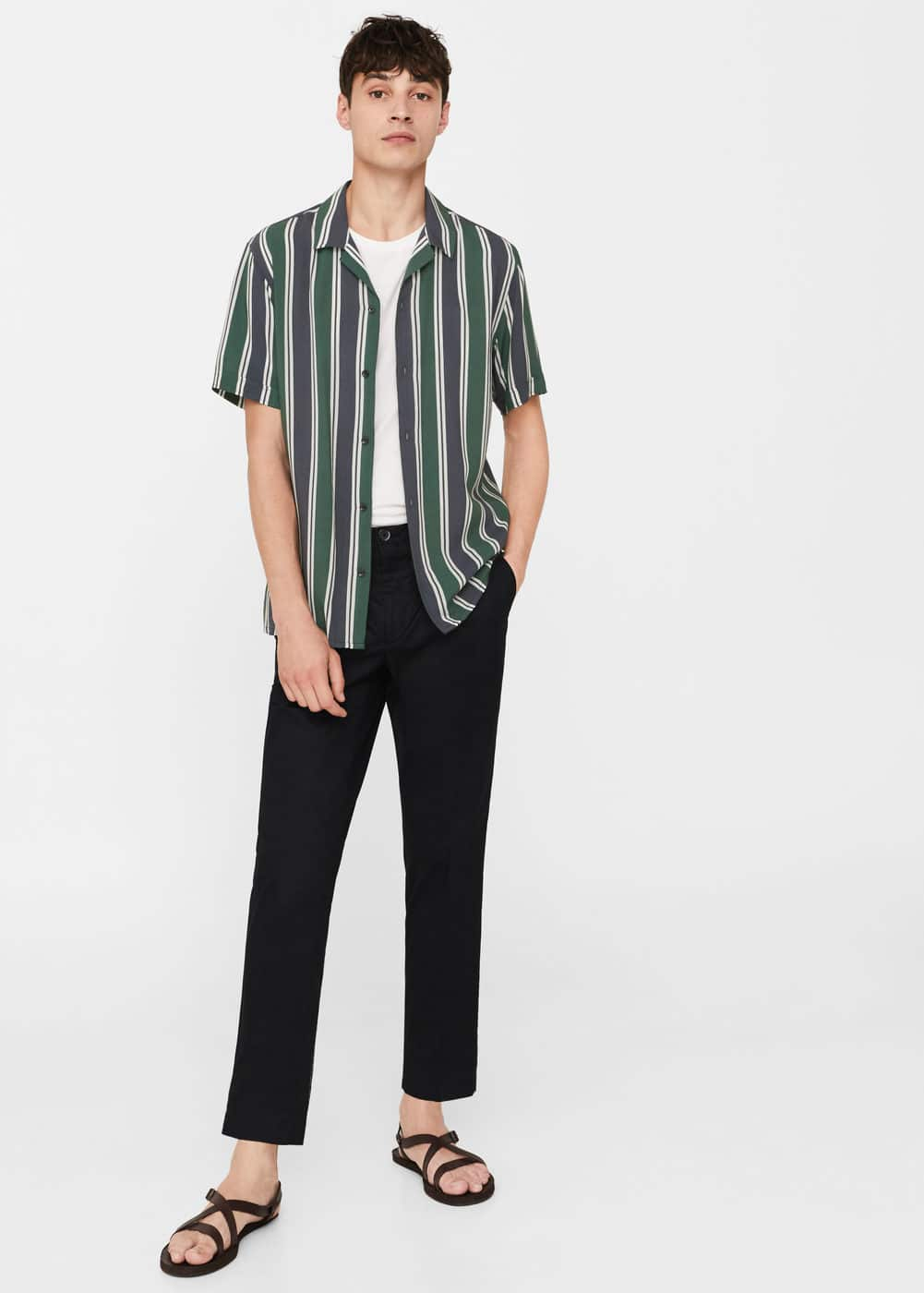 Regular-fit bowling shirt | MANGO MAN