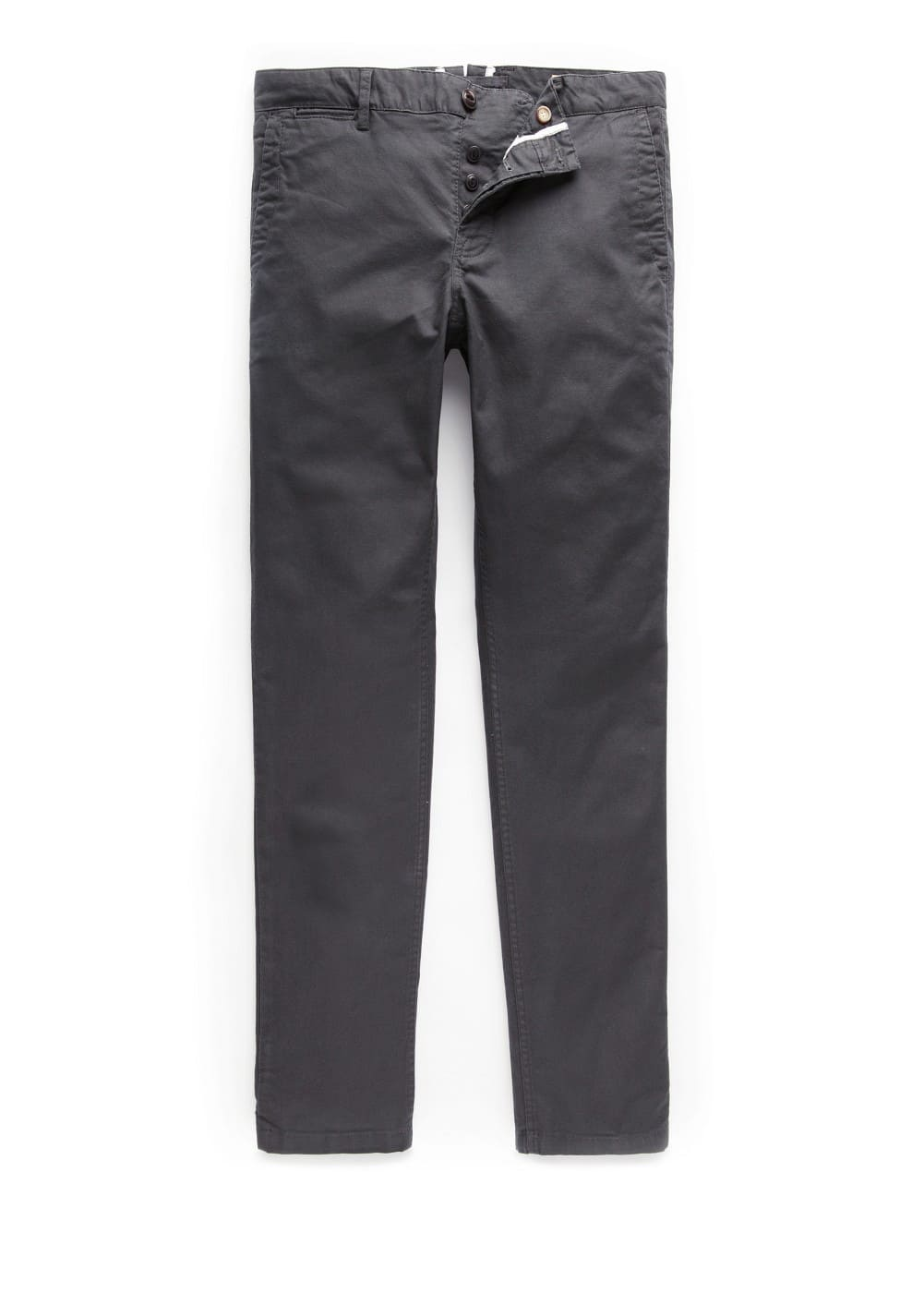 Slim-fit garment-dyed cotton chinos | MANGO