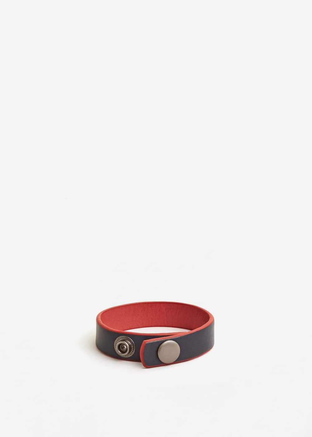 Leather mixed bracelet | MANGO MAN