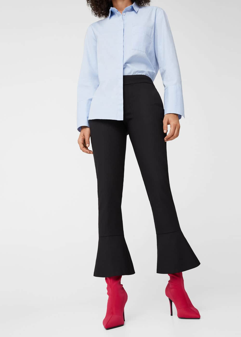 Ruffled hem trousers | MANGO