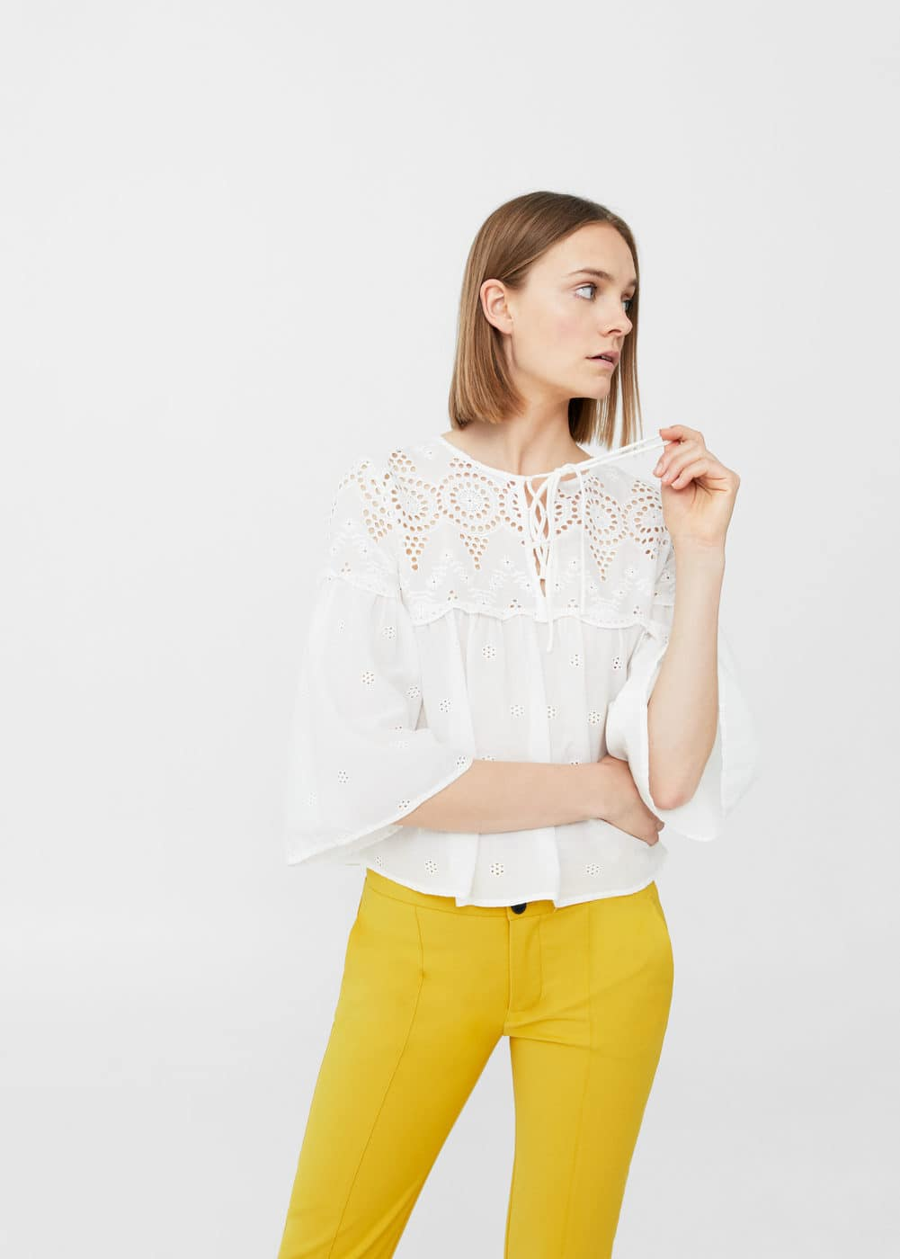 Openwork detail blouse | MNG