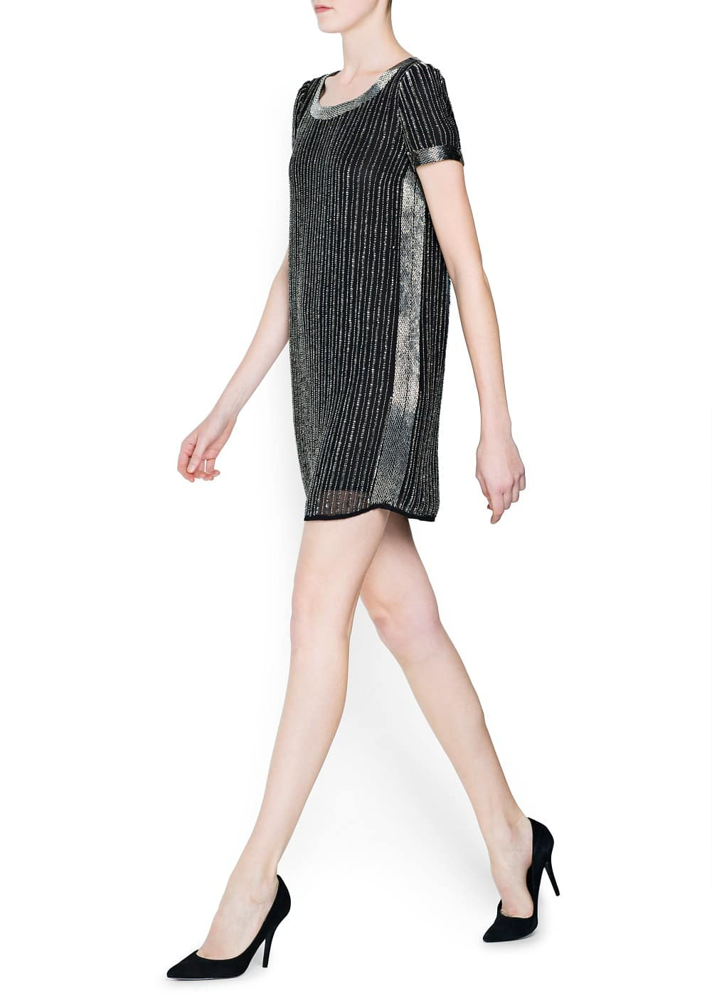 Sequined chiffon dress | MANGO