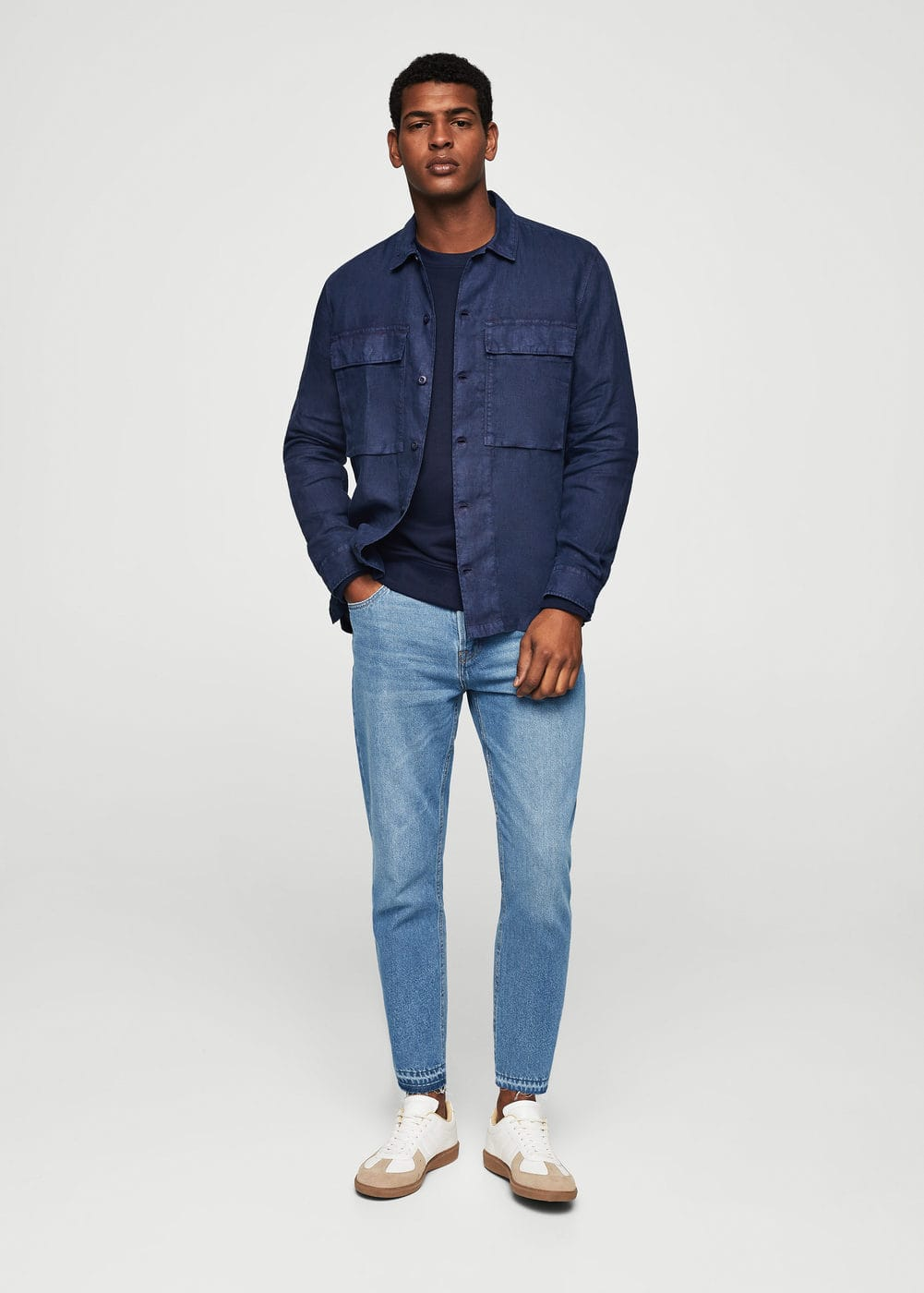 Straight-fit light wash just jeans | MANGO