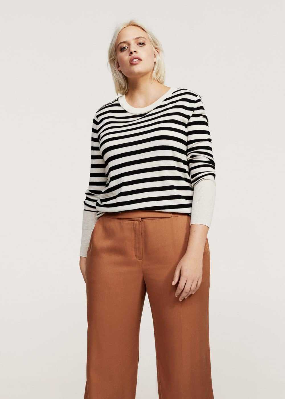 Flowy cropped trousers | VIOLETA BY MANGO