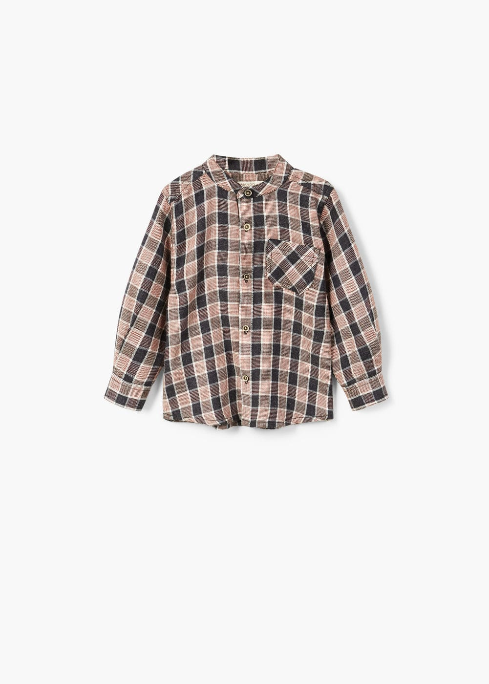 Chest-pocketed check shirt | MANGO