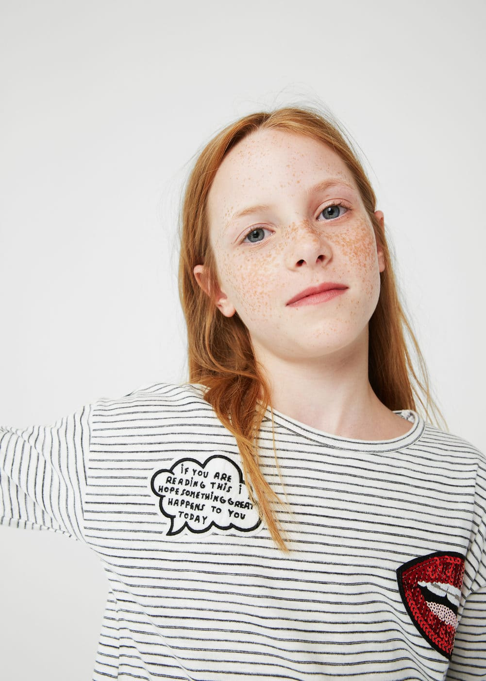 Patch printed t-shirt | MANGO KIDS