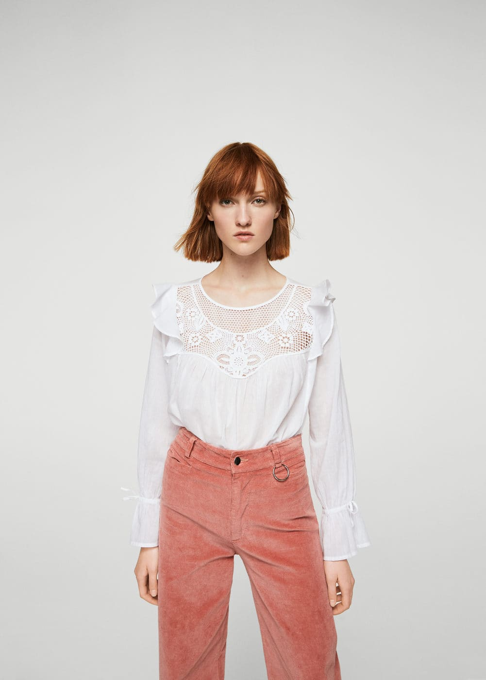 Blonda panel blouse | MANGO