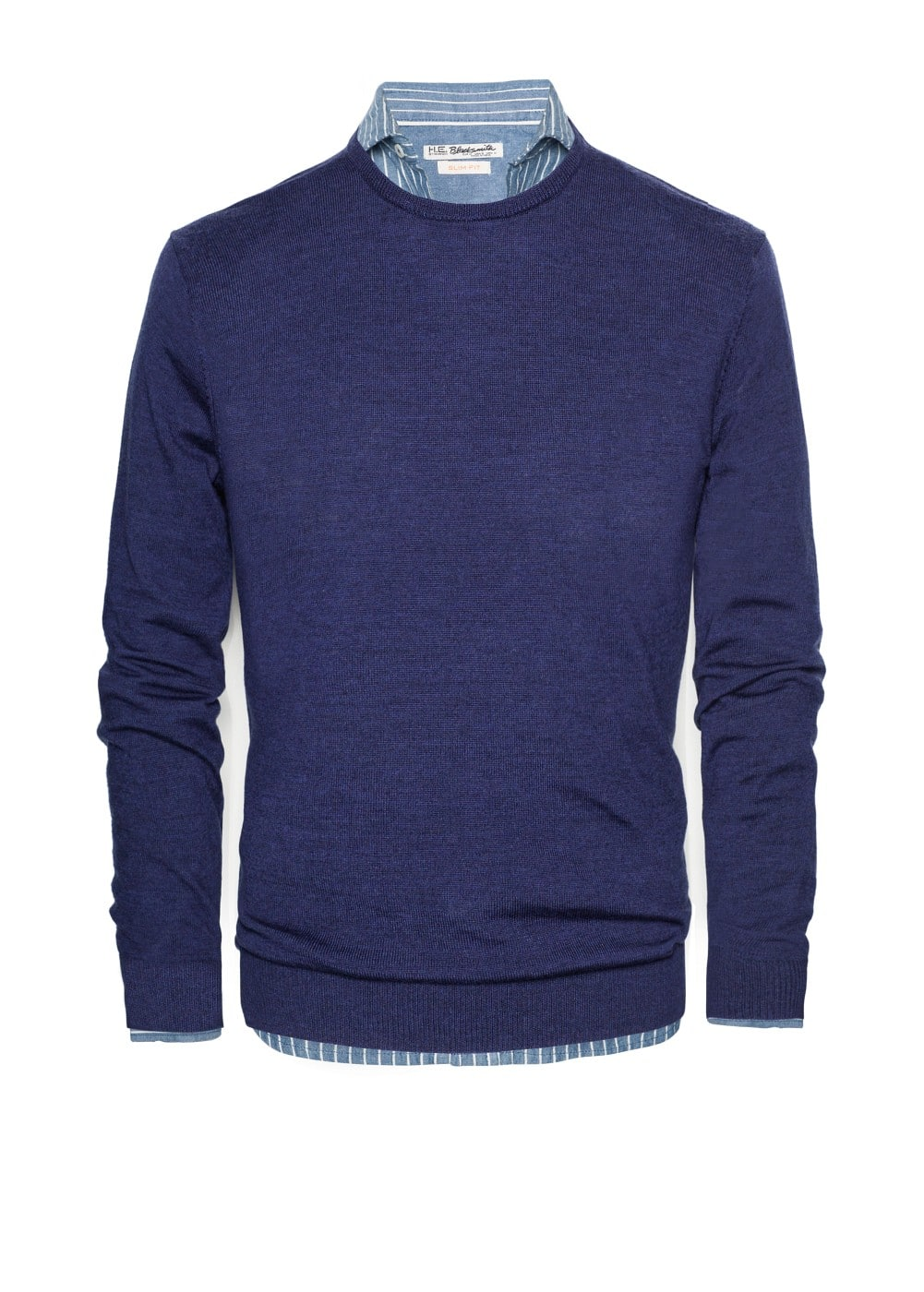 Elbow patch wool sweater | MANGO MAN