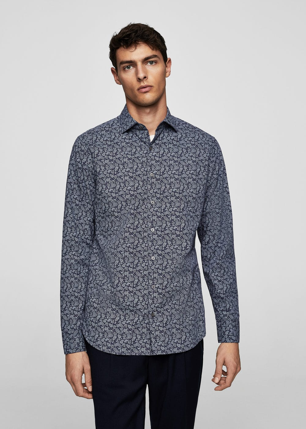 Slim-fit paisley print shirt | MANGO MAN