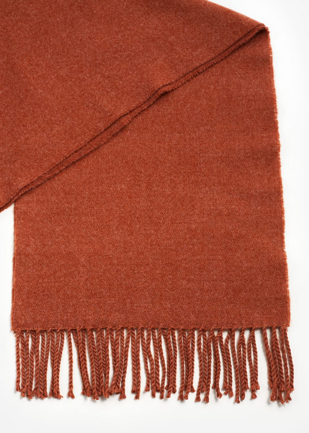 Fringes knit scarf | MANGO MAN