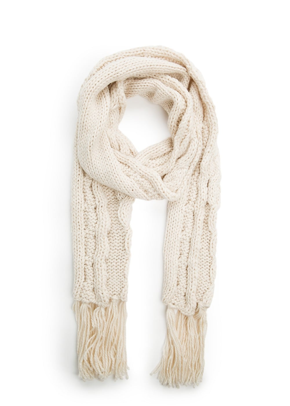 Cable-knit scarf | MANGO