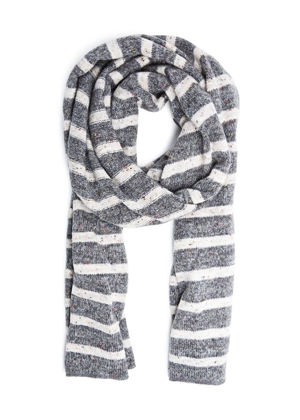 Lurex striped muffler | MANGO