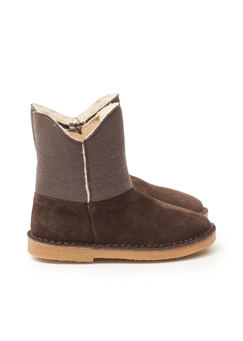 Shearling lined suede boots | MANGO KIDS