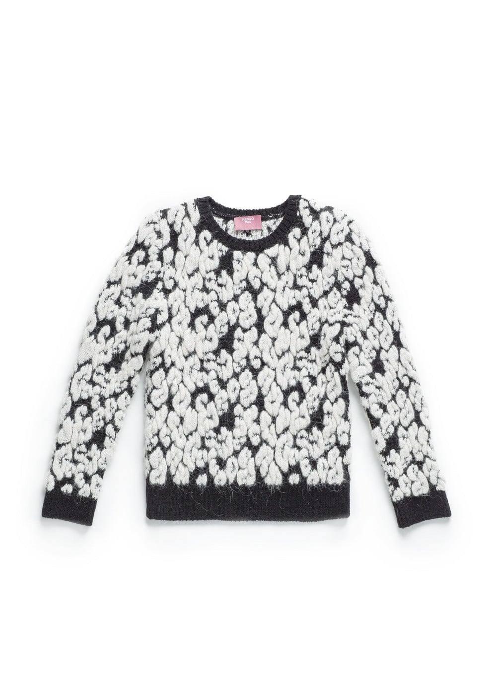 Leopard chunky knit sweater | MANGO KIDS