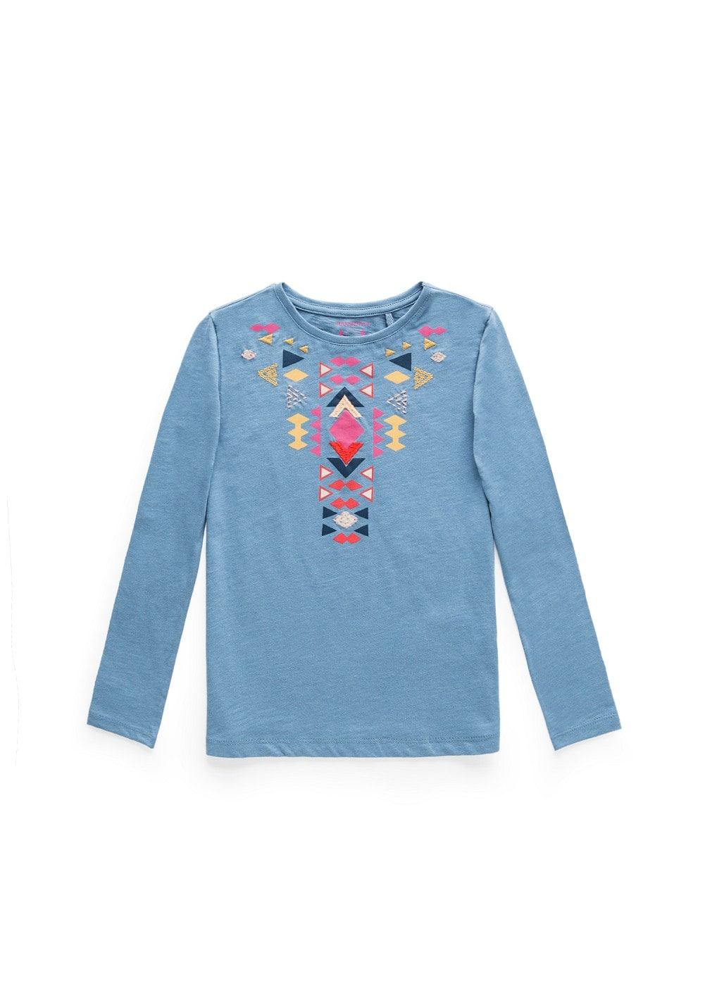Ethnic print cotton t-shirt | MANGO KIDS