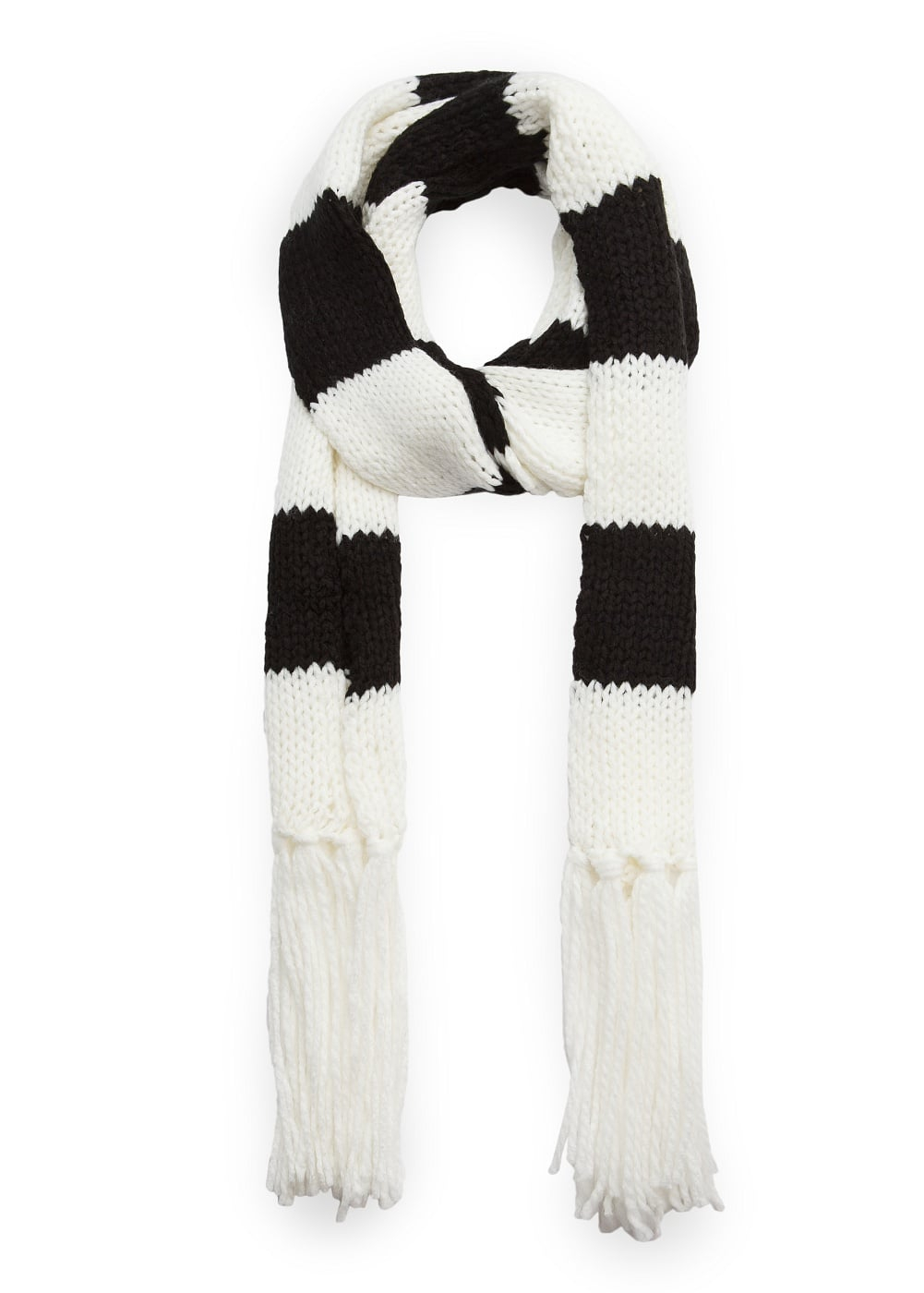 Striped knit scarf | MANGO