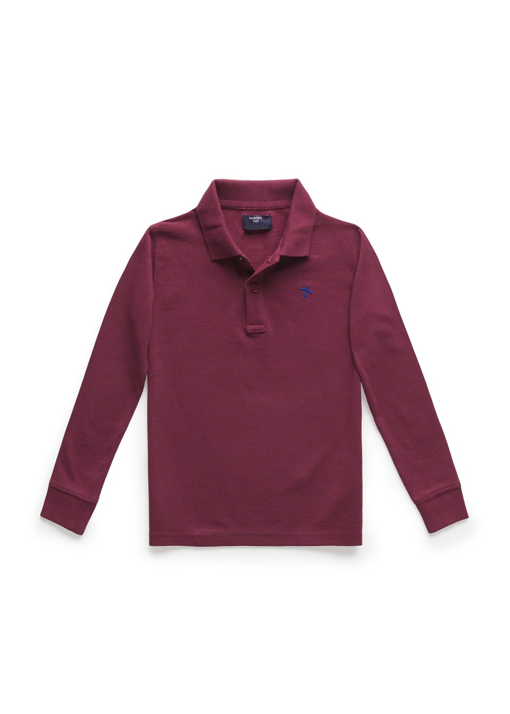 Long sleeve plane polo shirt | MANGO