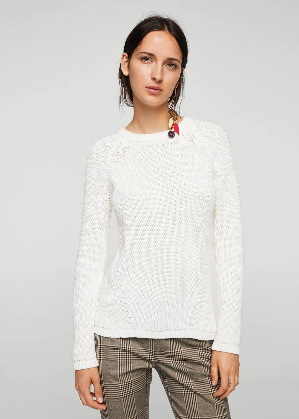 Knit cotton sweater | MANGO