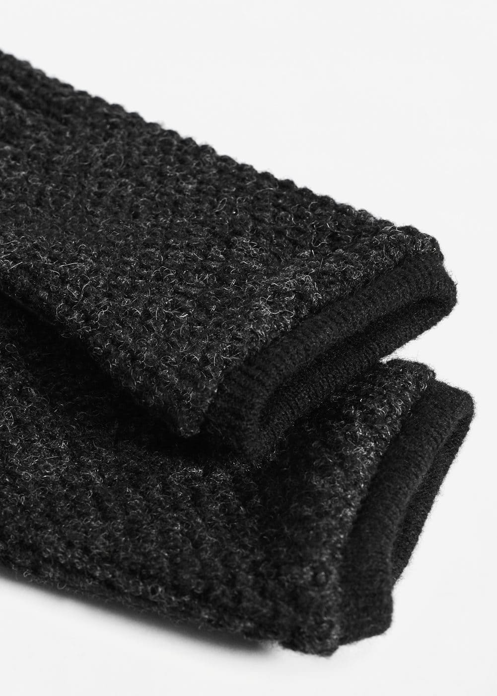 Combined knitted glove | MANGO