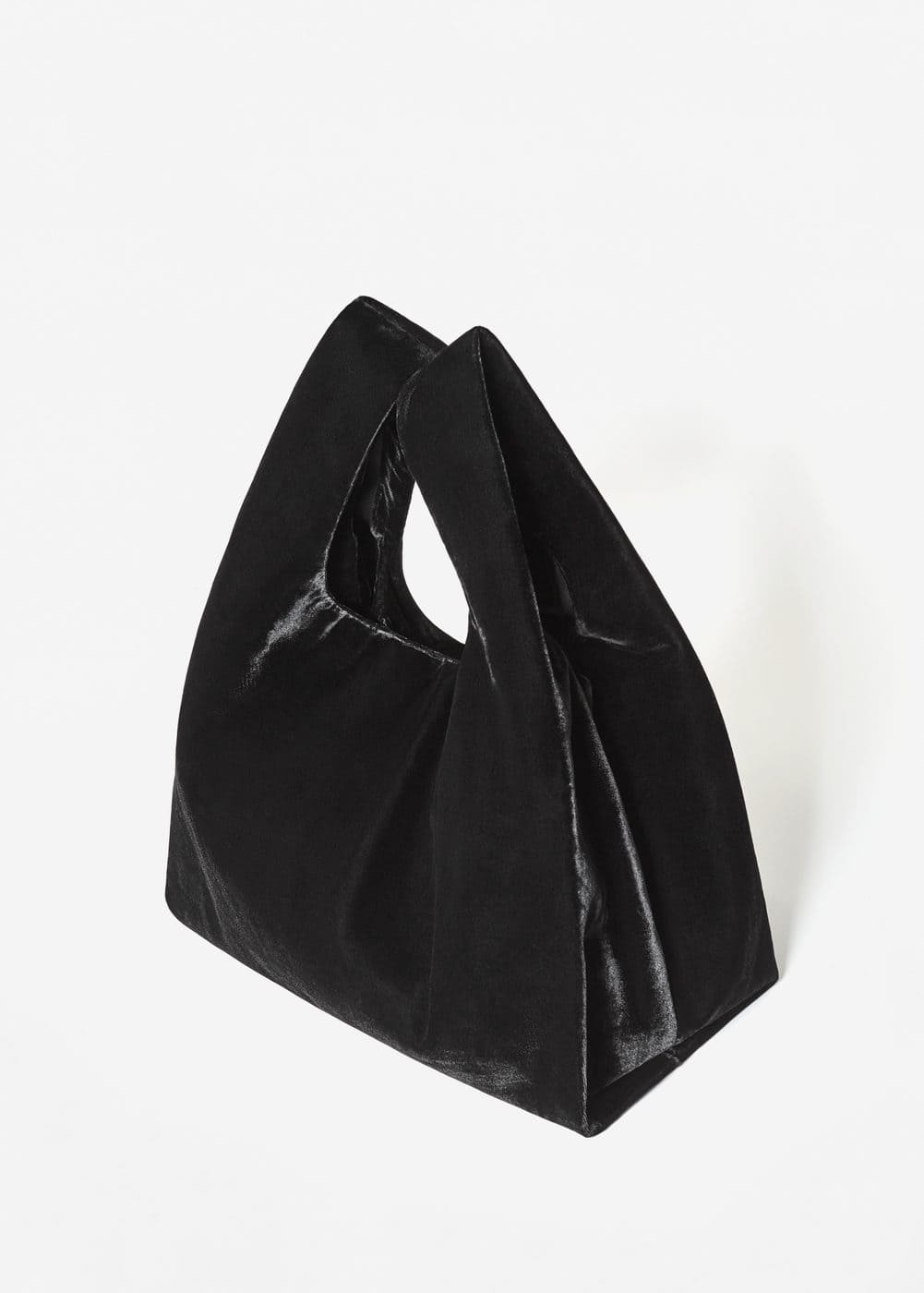 Velvet shopper bag | MANGO