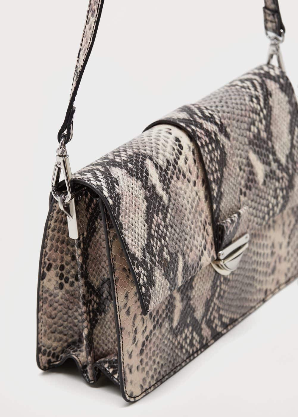 Snakeskin effect bag | VIOLETA BY MANGO