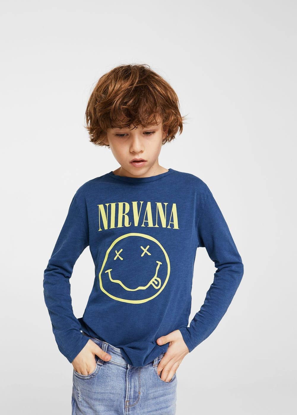 Nirvana design t-shirt | MANGO