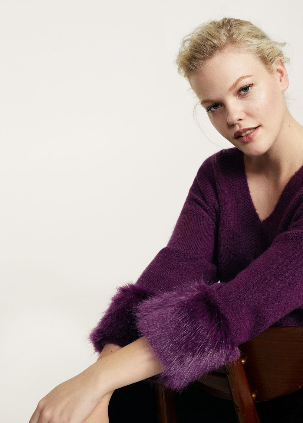 Sweater fur combined | VIOLETA BY MANGO