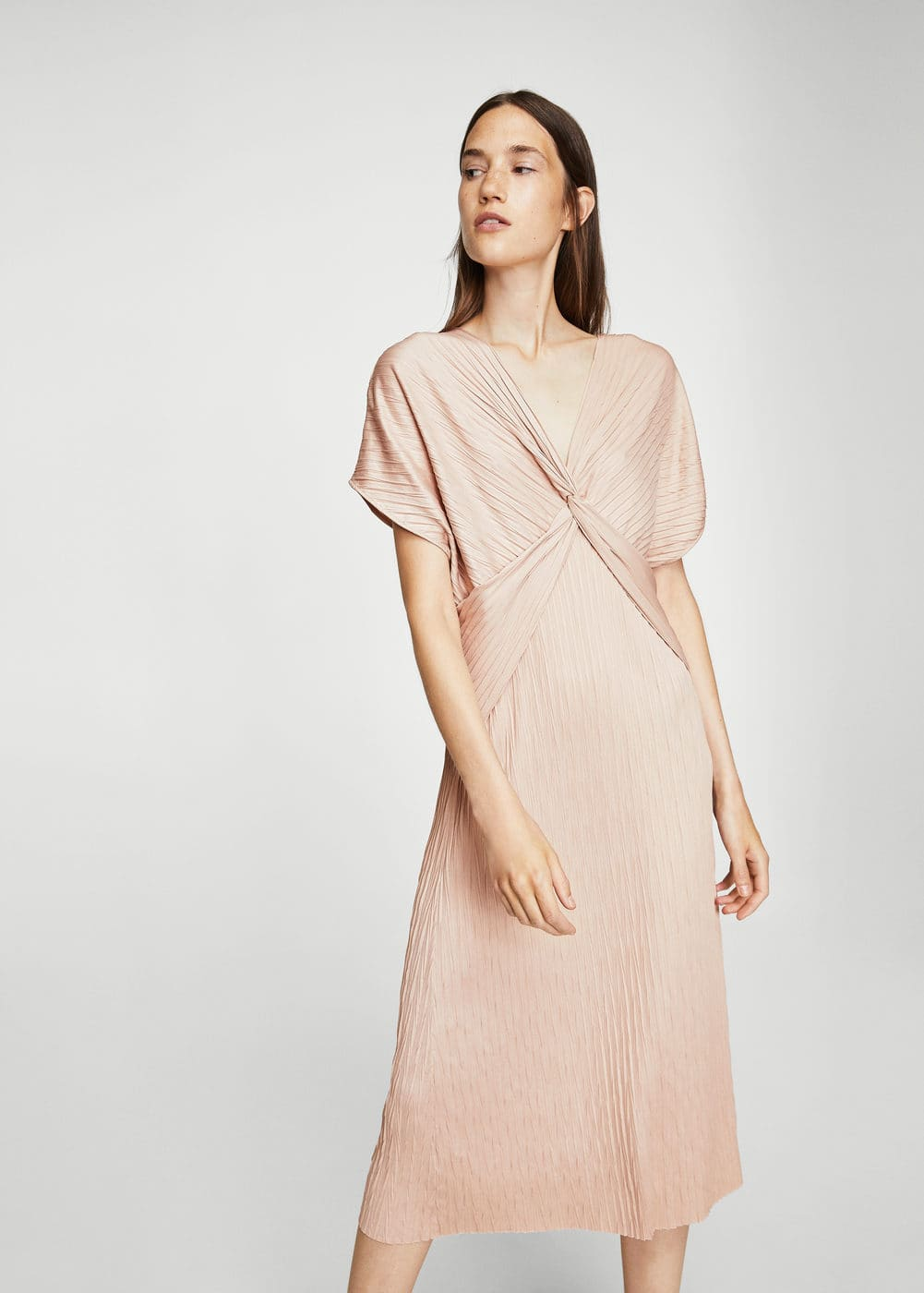 Ruched detail dress | MANGO