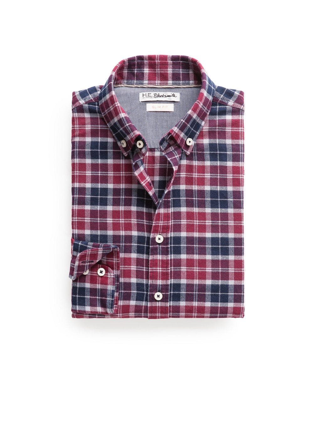 Slim-fit twill check shirt | MANGO