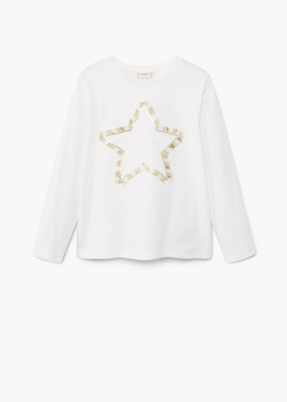 Sequin star t-shirt | MANGO