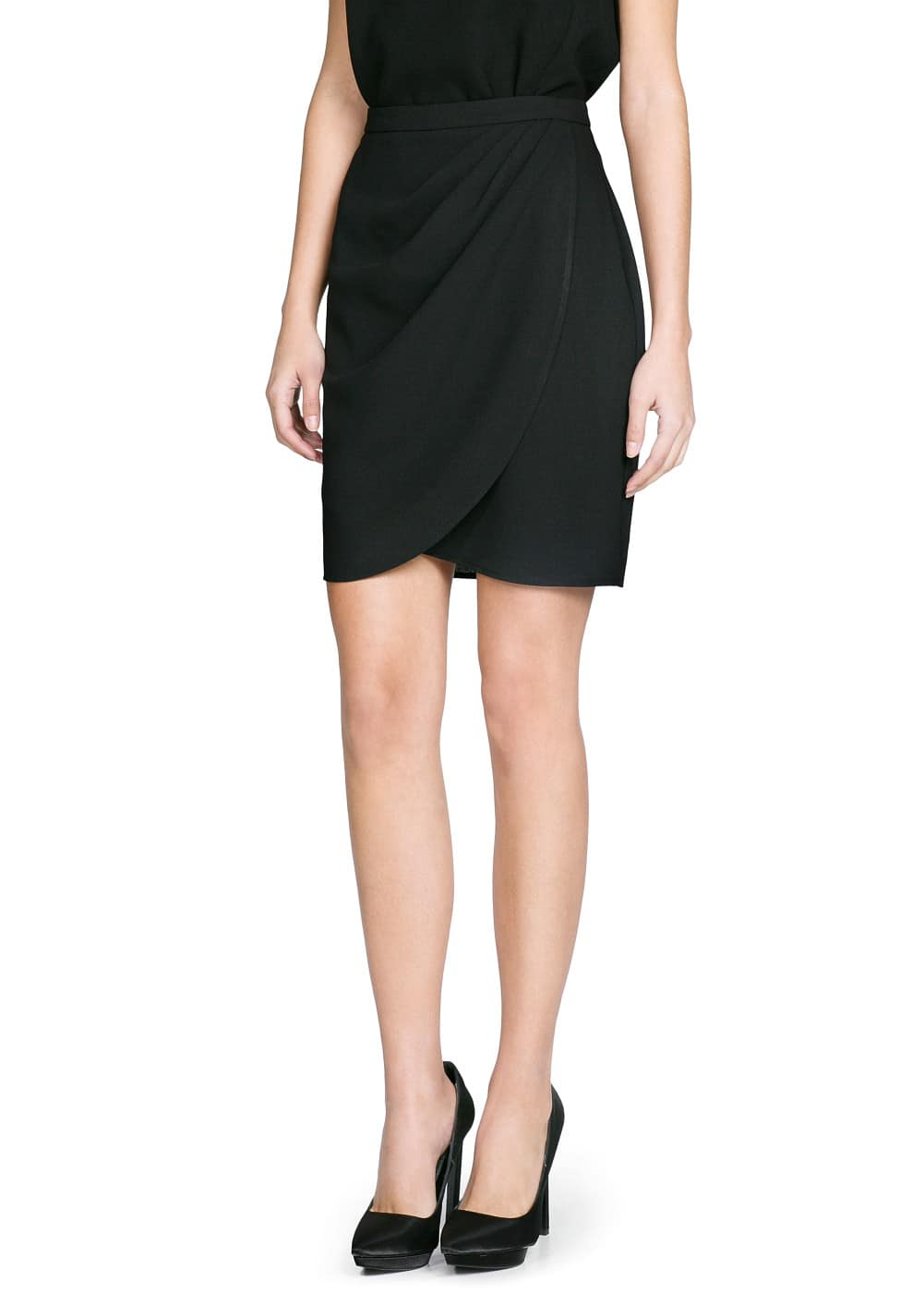 Crepe wrap skirt | MANGO