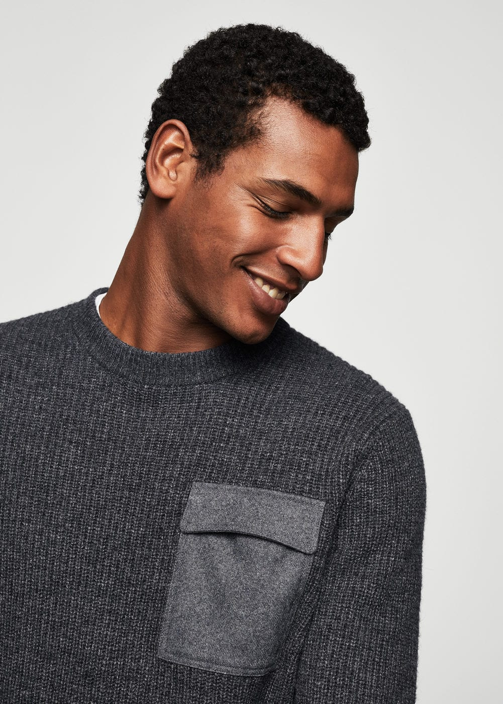 Pocket wool-blend sweater | MANGO MAN