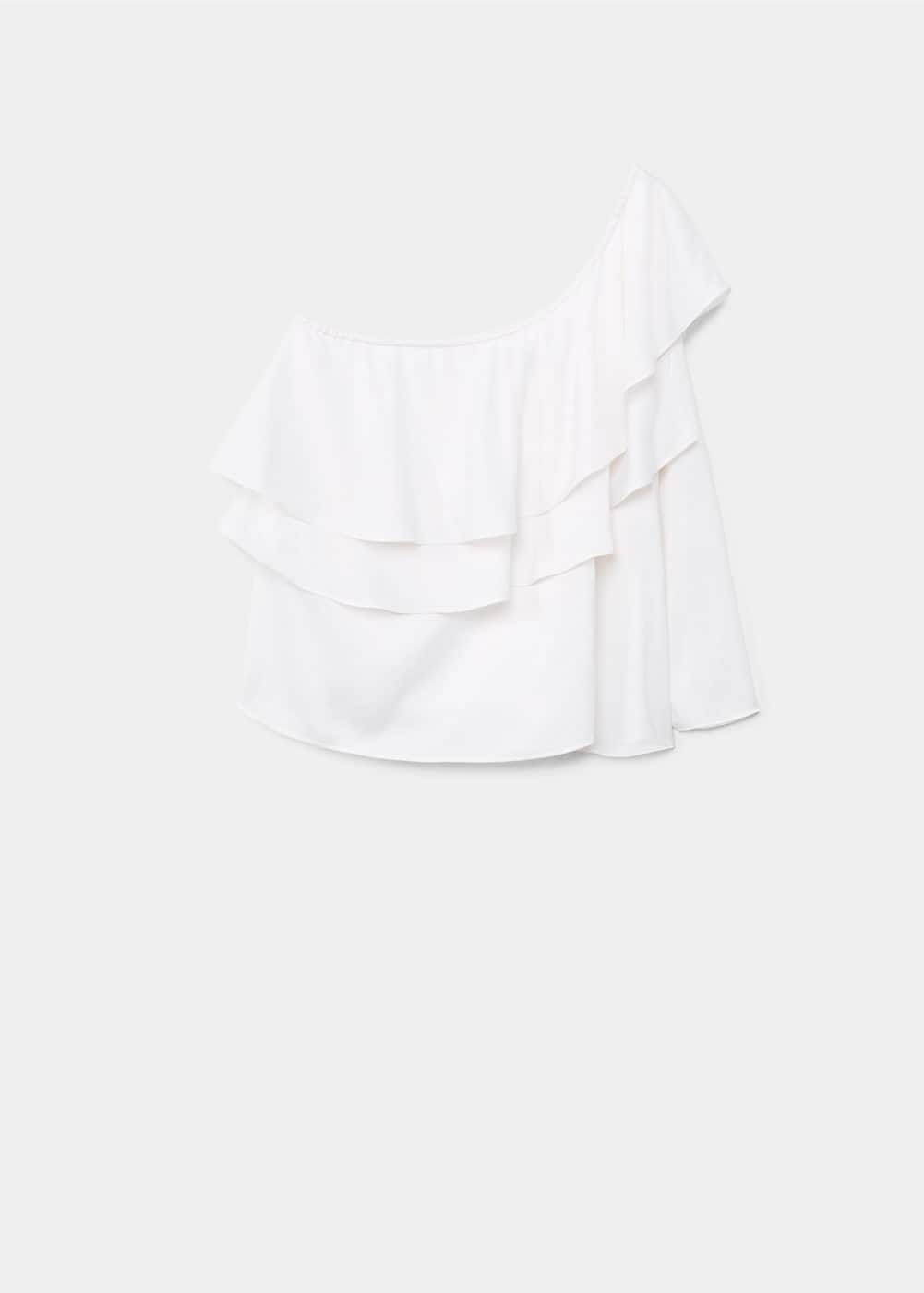 Ruffled off shoulder blouse | MANGO