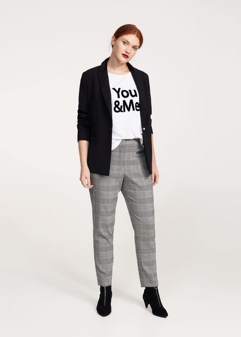 Textured message t-shirt | VIOLETA BY MANGO