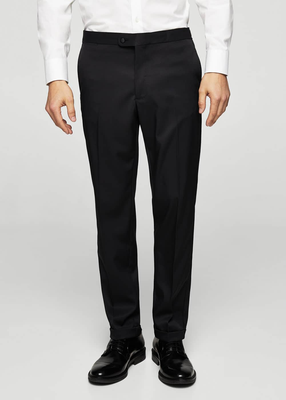 Slim-fit satin suit pants | MANGO MAN