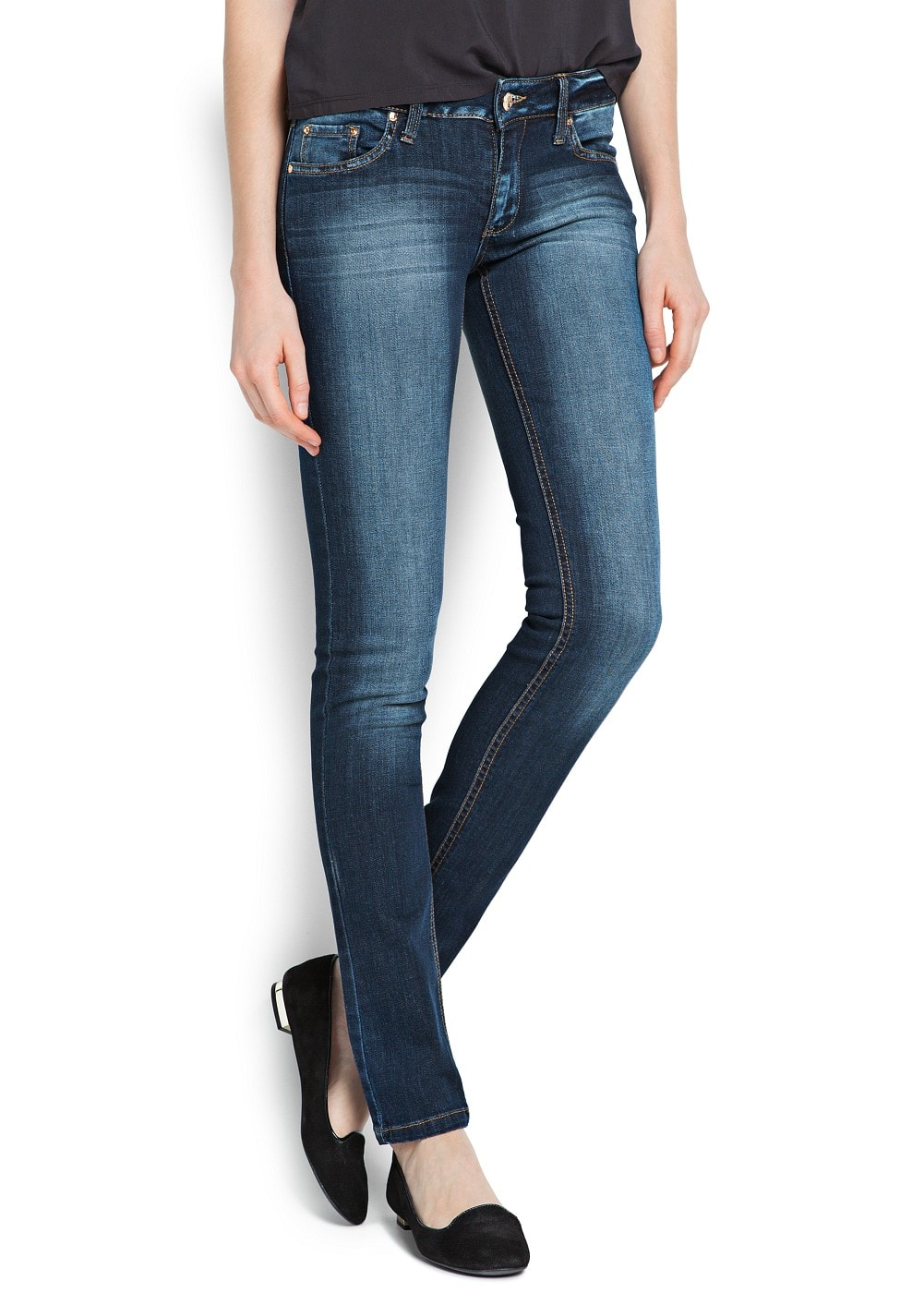 Slim-fit dark wash jeans | MANGO
