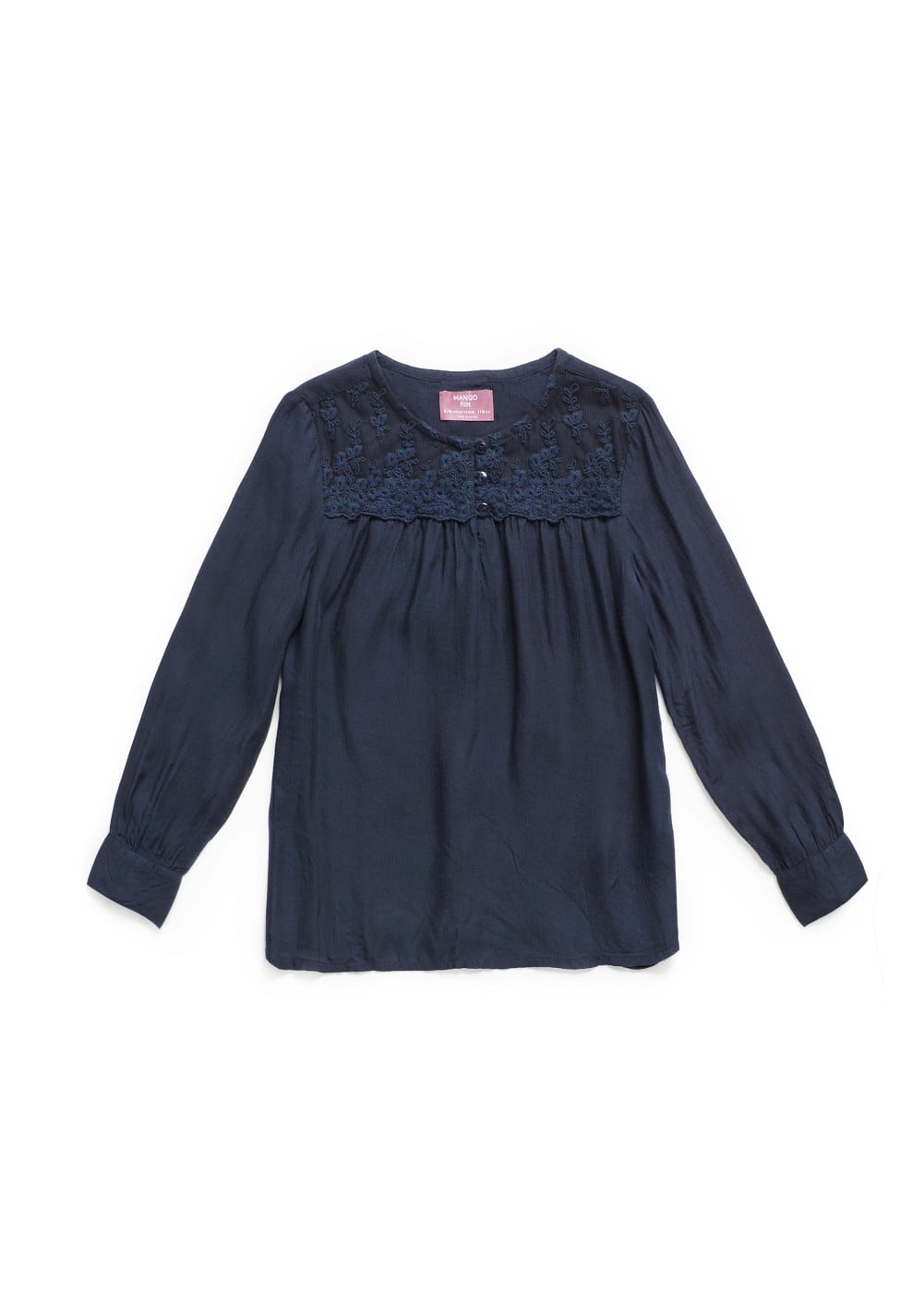 Lace appliqué shirt | MANGO KIDS