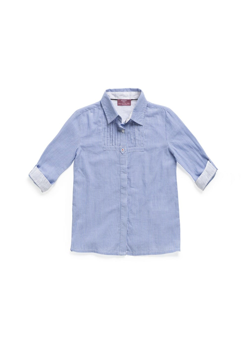 Pintuck details cotton shirt | MANGO KIDS