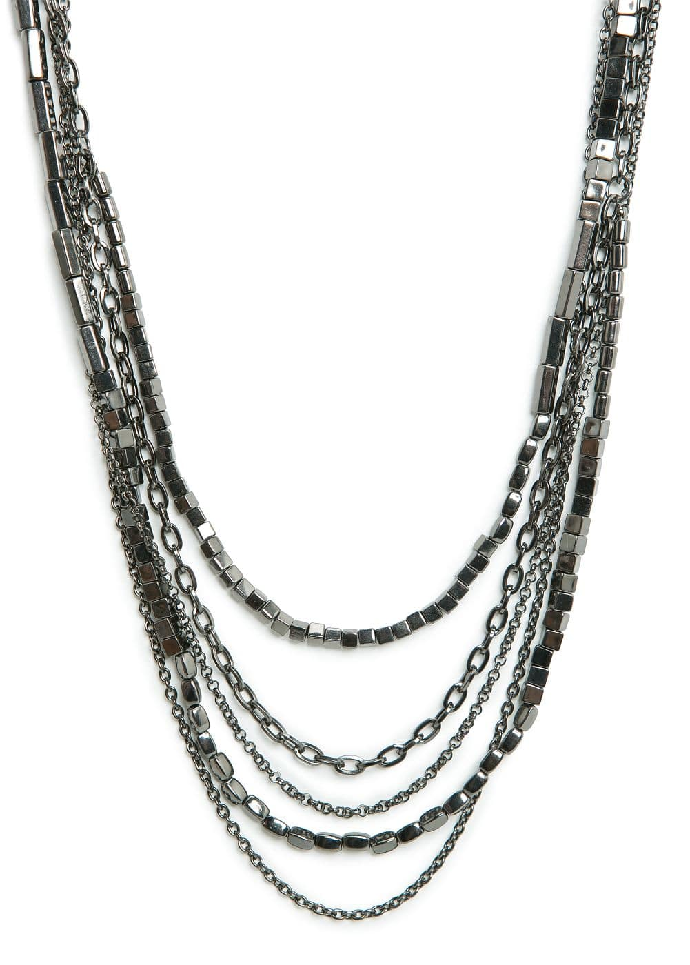 Beaded metal necklace | MANGO
