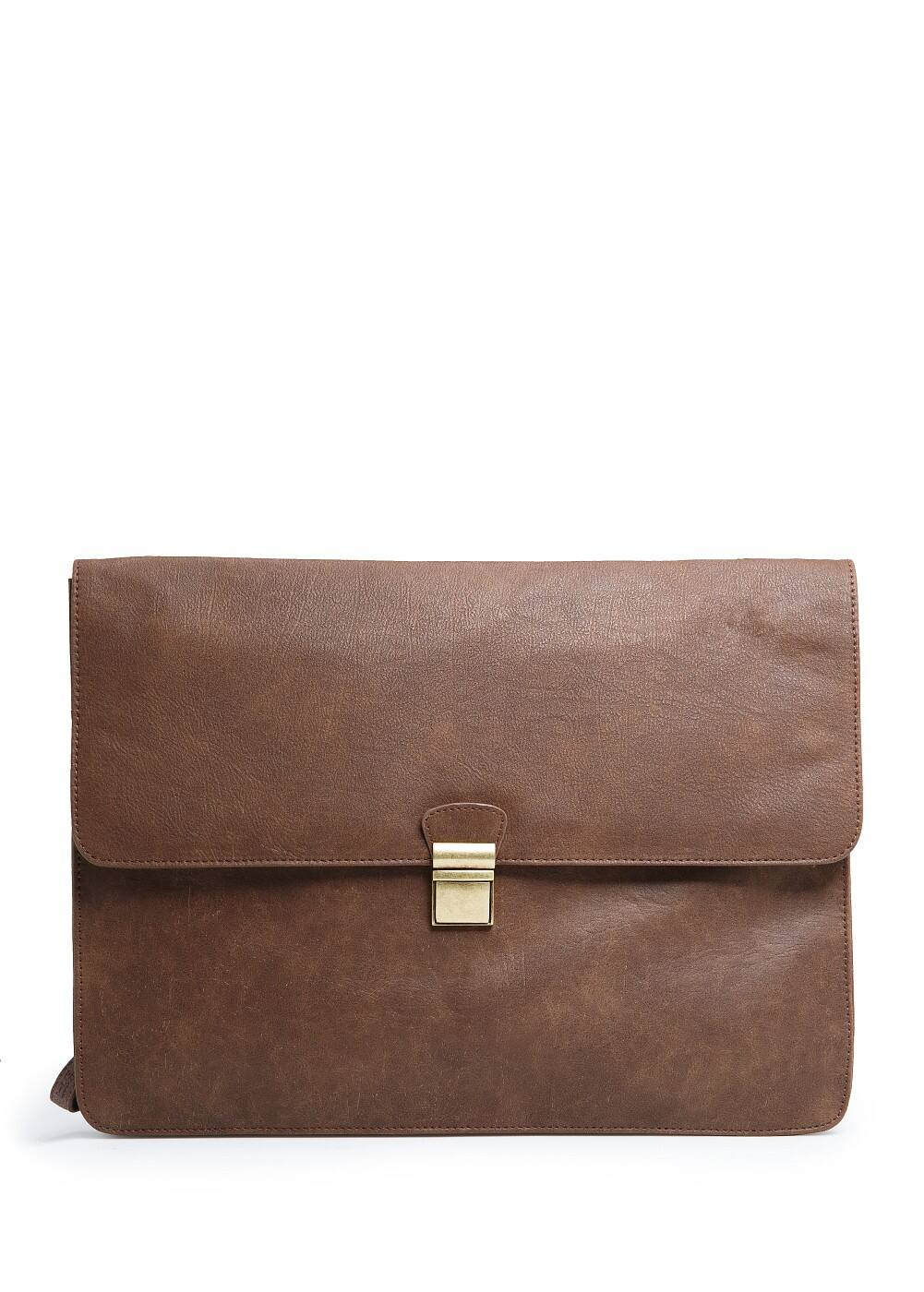 Leather effect briefcase | MANGO