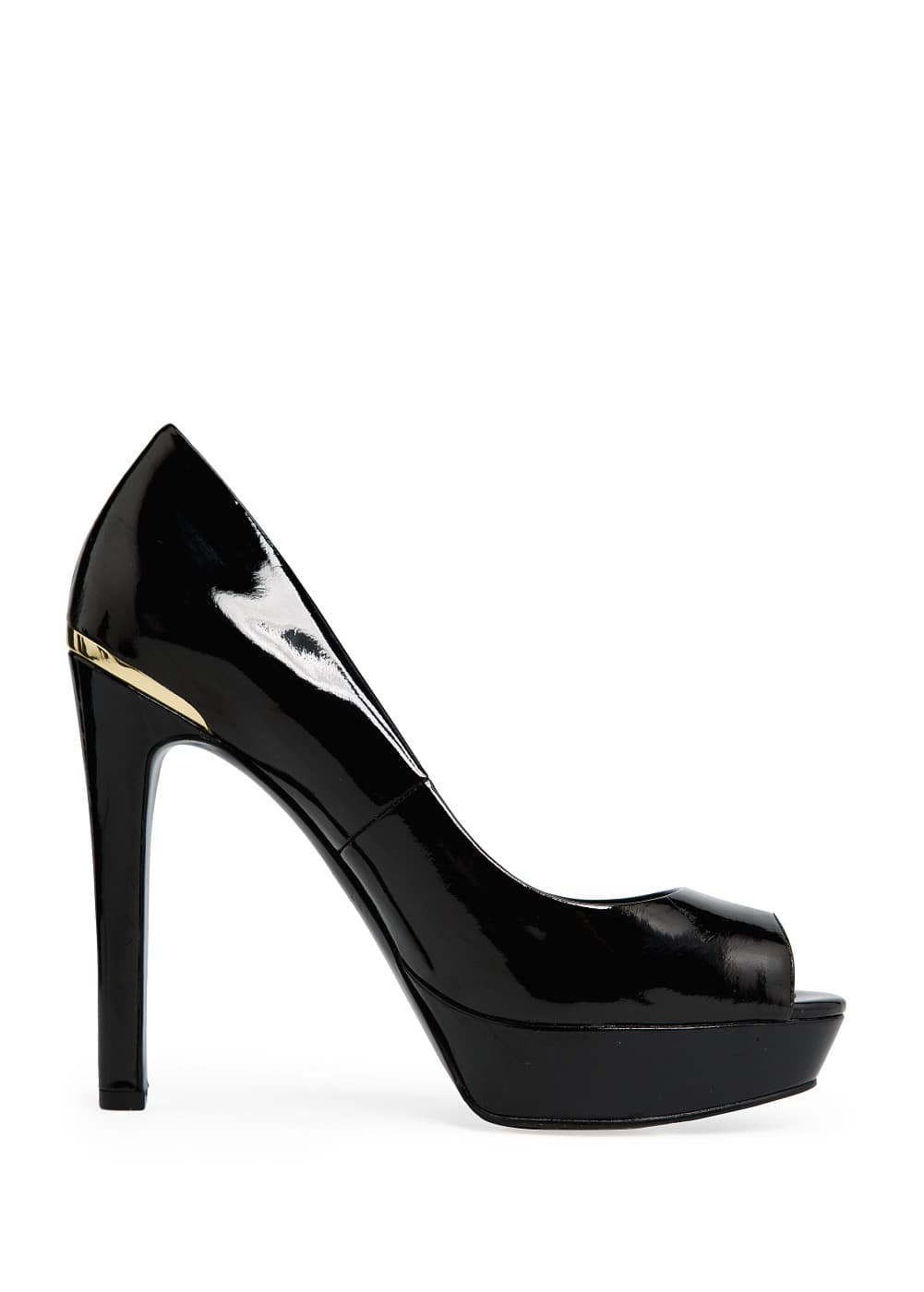 Patent peep-toe shoes | MANGO