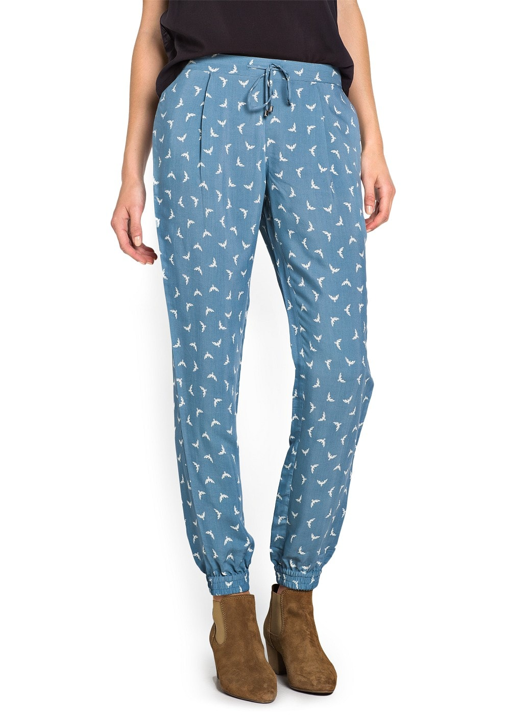 Eagles print flowy trousers | MANGO