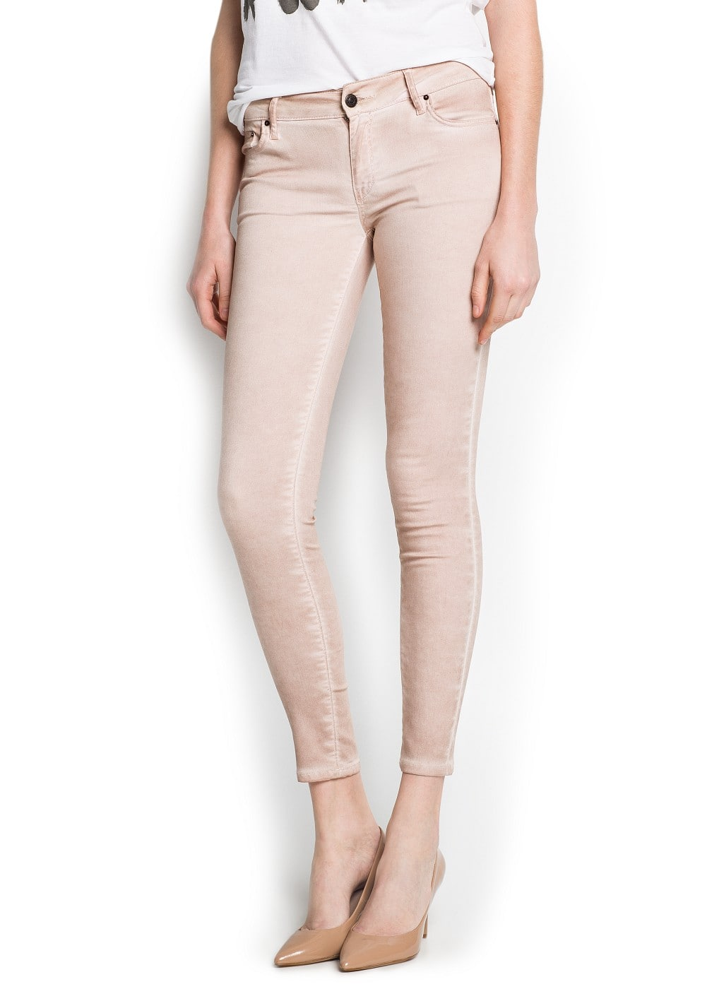 Super slim-fit faded fine jeans | MANGO