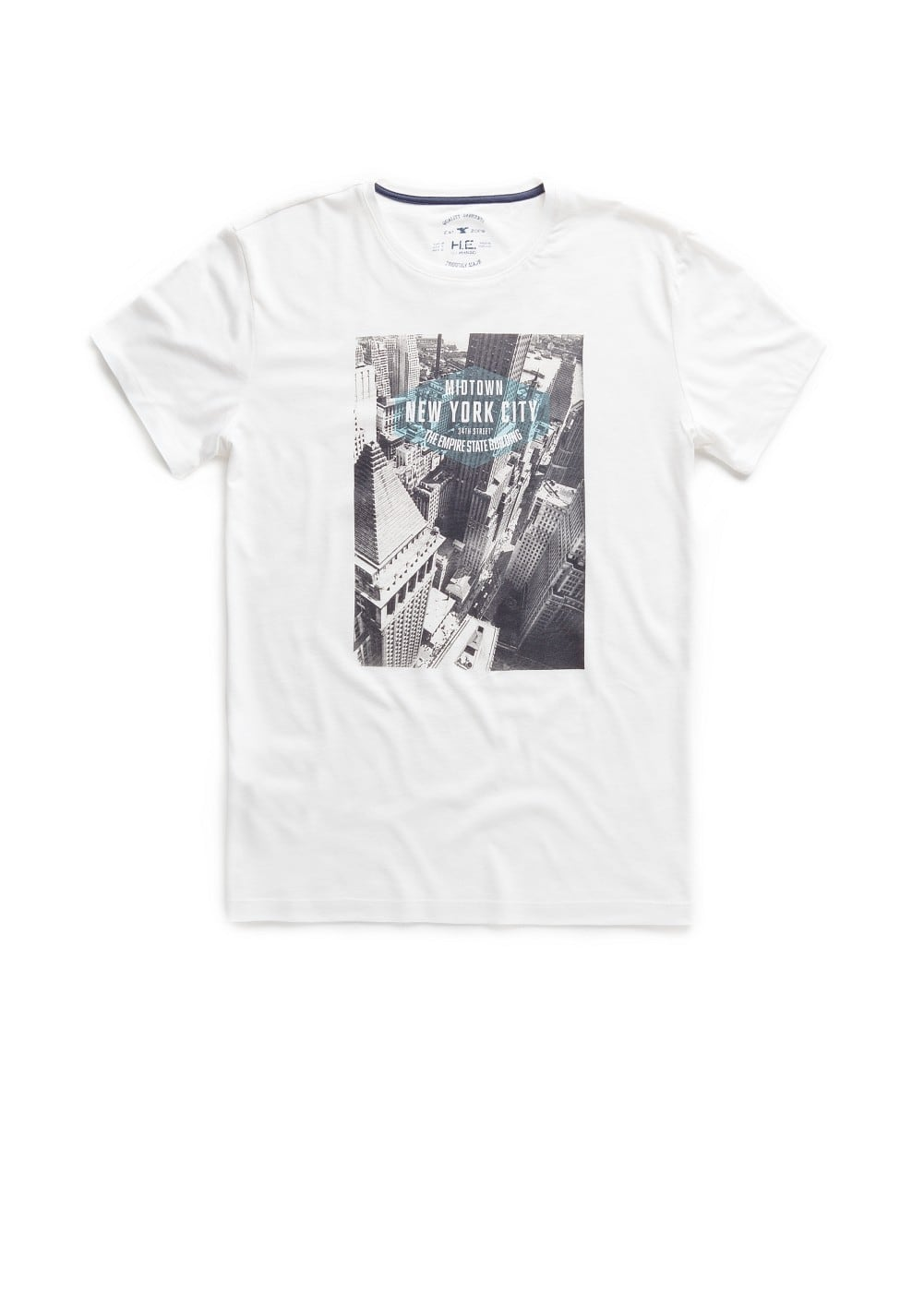 New york city printed t-shirt | MANGO MAN